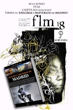 Enigmas y misterios de Madrid, Álvaro Martín, Feria del libro de Madrid