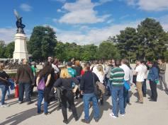 Mucha gente vino a la ruta